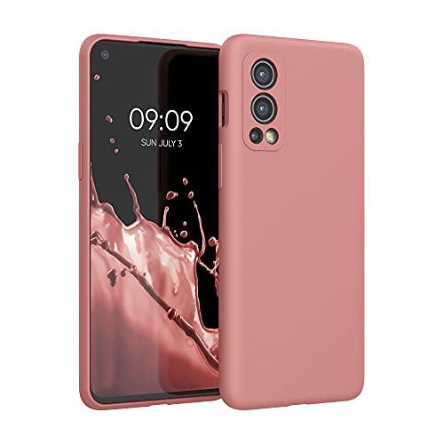kwmobile Hülle kompatibel mit OnePlus Nord 2 5G - Hülle Silikon gummiert - Handyhülle - Handy Hülle in Rose Tan