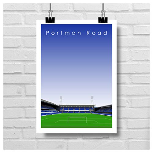 Home.Ground.Prints Wall Art Graphic Design Football Stadium Gift Print Collection - Ipswich Town FC 'Portman Road' ITFC