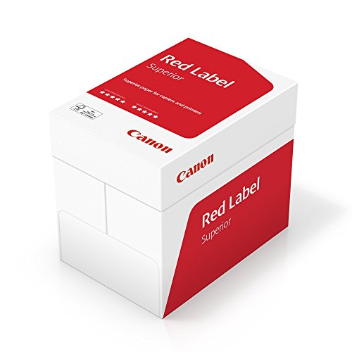 Canon Alemania Red Label superior Negocios Papel, 5x 500hojas, certificado FSC, A4, 80g/m², todas las impresoras HOCHWEIß CIE 168(optimizado embalaje protector)