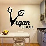Colorido vegano comida extraíble Pvc pegatinas de pared para decoración del hogar sala de estar dormitorio arte mural