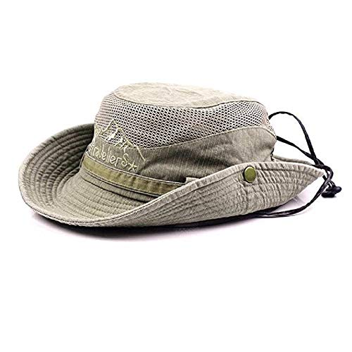 KeepSa Para Mujer Para Hombre Sombrero Para el Sol de Algodón de Ala Ancha Bucket Hat Safari Boonie Hat Verano Protección UV Plegable Pesca Hat
