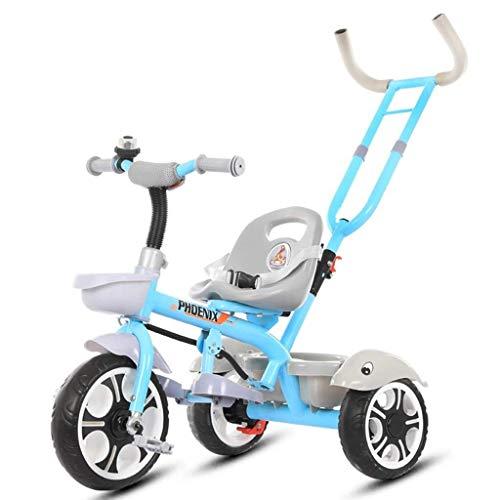 YankimX Cochecito de bebé de los niños del triciclo de bicicletas 1-5 años Hombre Y Mujer Hijos Carretilla ligera portátil Walker mejor regalo for los niños (Color: azul, tamaño: 86 * 48 * el 108CM) B