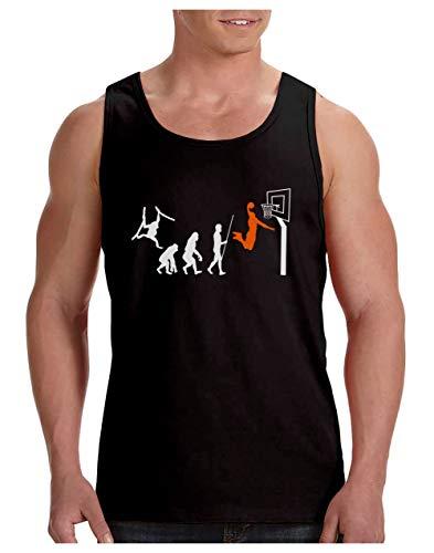 Green Turtle Camiseta de Tirantes Hombre - Baloncesto Regalos Originales - Evolucion Basket, Baloncesto Medium Negro