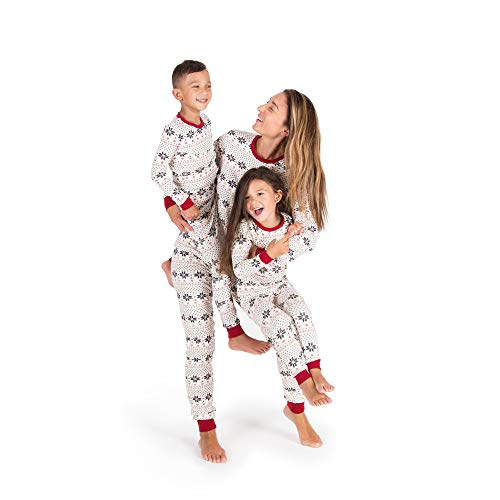 Burts Bees Baby Kids Holiday Snowflake Pajama Set - Ivory S