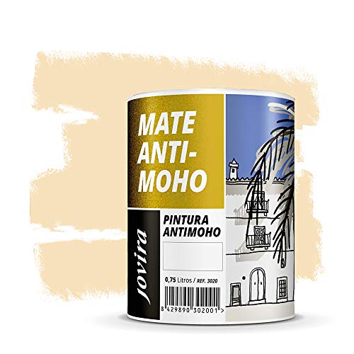 PINTURA ANTIMOHO, evita el moho, resistente a la aparición de moho en paredes, aspecto mate. (750 ML, VAINILLA)