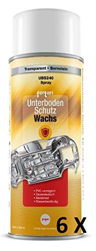 6 X FERTAN 500 ML UNTERBODENSCHUTZWACHS UBS240 UNTERBODEN WACHS PKW SCHUTZ RESTAURATION UNTERBODENSCHUTZWACHS