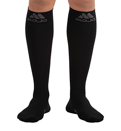 4XL Mojo Compression Socks Unisex Comfortable Knee Hi Firm Support Compression Socks 20-30 mmHg | Knee Length Sock | Medical Support Socks | Stretchable | Black