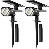 Solarlampe für außen, LITOM Solarleuchte Garten【Neue Pro Version】, 2 Helligkeitsstufe,30 LEDs, IP67 Solarstrahler,...