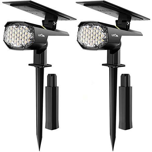 LITOM 30 LED Solar Landscape Spotlights Outdoor Pro,IP67...
