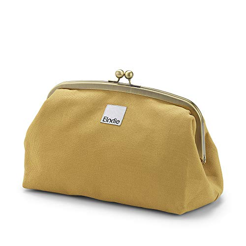 Elodie Details Neceser de Viaje/Bolsas de Cosméticos Zip&Go Vintage Look de Tela Amplia Apertura - Gold, Amarillo
