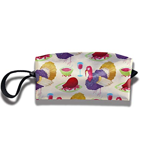 Bbhappiness Pouch Handbag Cosmetics Bag Case Purse Travel & Home Portable Make-up Receive Bag Thanksgiving Day