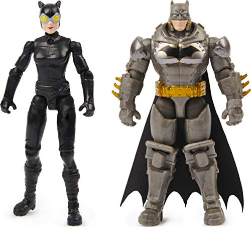 BATMAN 4-inch and Catwoman Action Figures with 6 Mystery Accessories