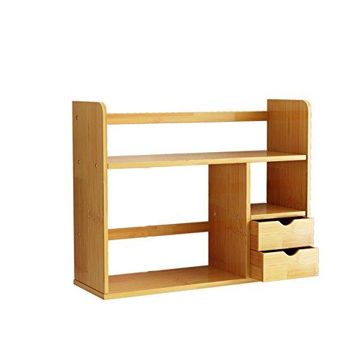 WYYY Étagères Bibliothèque Multi-fonction Parloir Chambre À Coucher Double Bambou Couleur Du Bois 46 * 19 * 48 Cm (taille : 46 * 19 * 68cm)