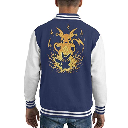 Cloud City 7 The Electric Mouse Within Pikachu Raichu Kid's Varsity Jacket