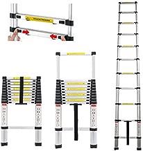 3.2m /10.5ft Telescopic Ladder Extension Aluminium Folding Step Ladder Multi-Purpose Ladder for Home, Office, Climbing Roof