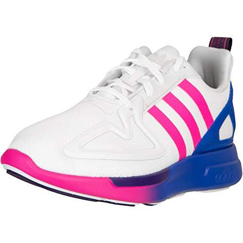 adidas ZX 2K Flux - Zapatillas para mujer, color Blanco, talla 39 1/3 EU
