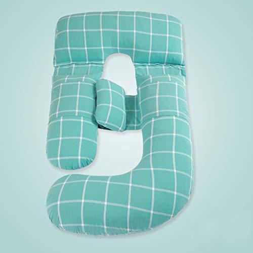 Coussin De Grossesse Complet Et Oreiller De Maternité Avec Housse Amovible Et Lavable D'oreiller En Forme Détachable Lavable I
