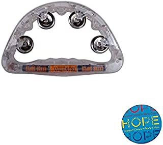 Sensory Tambourine Visual Light Up Musical Instrument Pack w/Autism Awareness Hope Pin (LB)