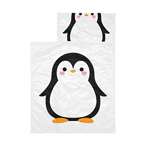 Toddler Travel Sleeping Bag Cartoon Penguin Happy Sleeping Bag For Kids Soft Microfiber Lightweight Traveling Sleeping Bag Perfect For Preschool, Daycare And Sleepovers