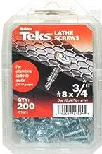Hex Washer Head Sharp Point Screw ITW 21302 Teks #6 x 3//4 in 200-per Pack ITW Teks