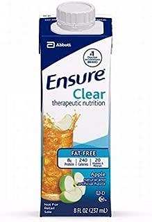Ensure Clear Apple, New Recloseable Carton, 8 Ounce, Abbott - Case of 24