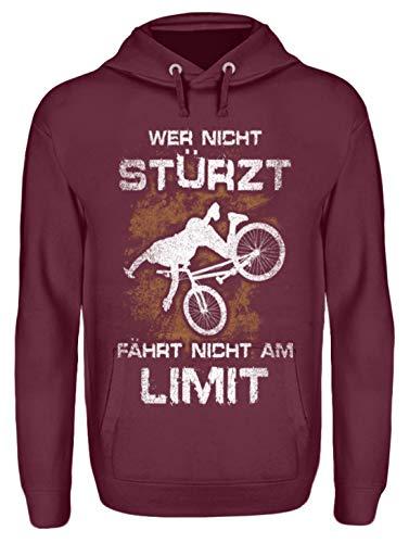 Shirtee - Sudadera con Capucha Unisex para Bicicleta, diseño con Texto en...