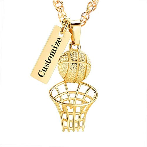 shajwo Basketball Hoop Cremation Jewelry Urn Necklace for Ashes for Women Men Funeral Memorial Keepsake Ashes Holder Casket Jewelry for Human Pet Ashes