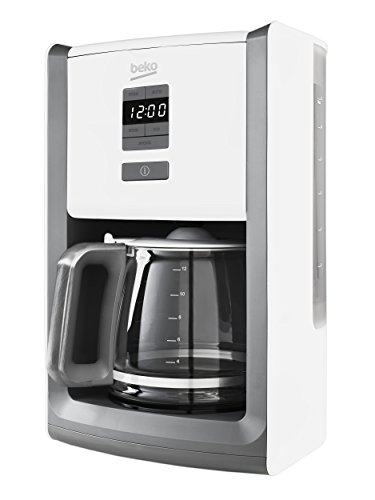 Beko CFD6151W Digital Display Sense Filter Coffee Machine, 1000 W, White