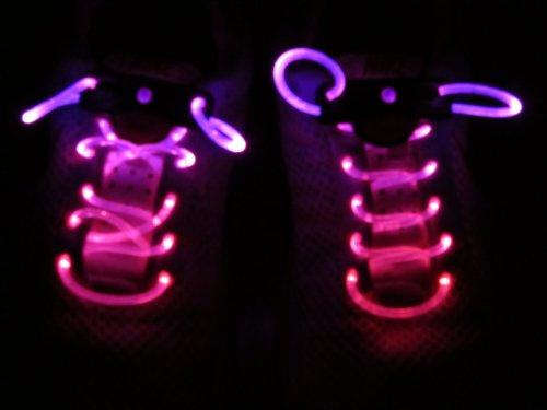 【光る靴ひも】フラッシュ ストリング(マゼンタ) LED ランニングシューズ 靴紐 ピンク