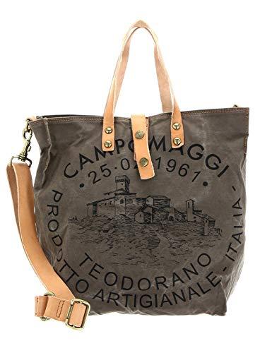 Campomaggi Shopping Bag M V.Militaire + St.Nera + Naturale