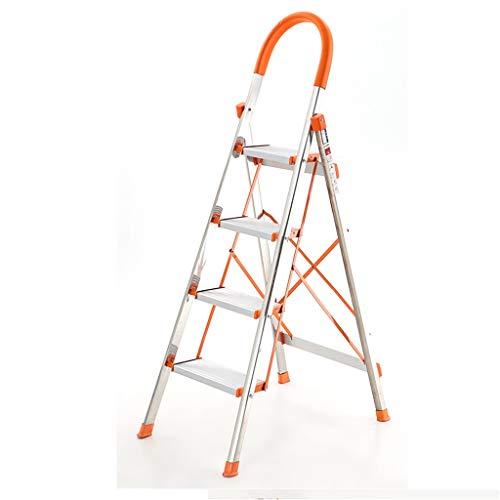Roestvrij staal Driestaps Ladder, Outdoor Vierstaps Ladder Gemak Winkel/briefpapier Winkel/cosmetica Winkel Trappen 152cm