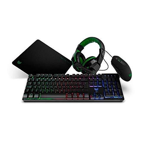 BG X-4 - BGX4PCK - Gaming Setup, Teclado, Auriculares con micrófono, Ratón,...