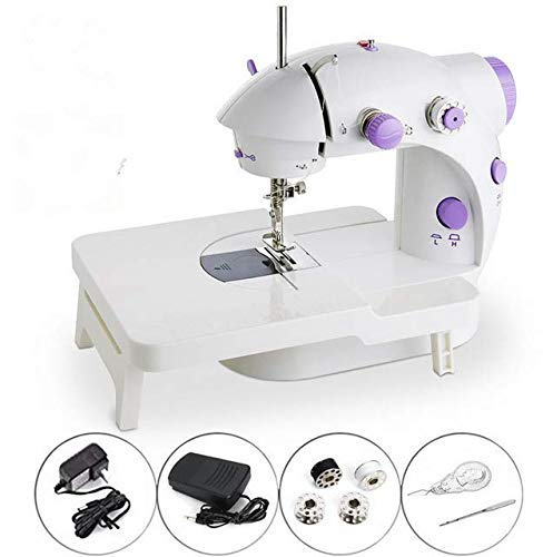 Best Deals! MAOFALZZNA Mini Sewing Machine with Extension Table Easy to Use Basic 1 Dial Beginner