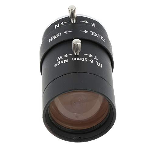 F Fityle 5-50mm F1.6 1.3MP (Mega Pixels) Varifocal Security CCTV Camera Lens CS Mount Manual Iris Lentes FOV 76 ° -8.8 °