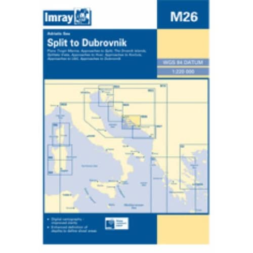 Imray Chart M26 2008: Split to Dubrovnik