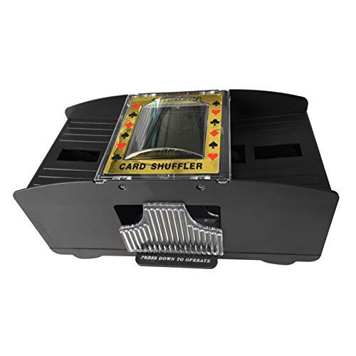 SHINROAD Juego de cartas de juego (2 barras), lanzador eléctrico a pilas para el juego de puentes, mezcla automática de póquer, juego mecánico, juego de cartas de plástico para torneos en casa