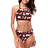 Best Buffalo Monokinis - Buffalo Plaid Woodland Christmas Winter Women's Girls Bikini Review