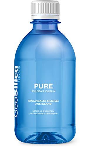 GeoSilica Silizium Pure - Flüssiges Kolloidales Silizium aus Island - pH 8,5 - 300ml