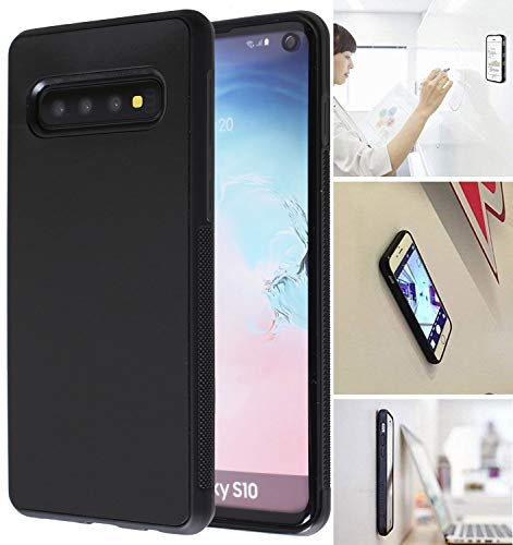 [ Monca ] Anti Gravity Cellphone Case [Black] Magical Nano Technology Stick to Glass, Whiteboards, Tile, Smooth Flat Surfaces (Goat Case for Galaxy S10)