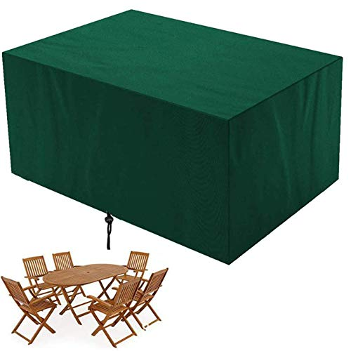 Garden Furniture Covers Outdoor Table Cover Waterproof Windproof Patio Set Cover,Outdoor Heavy Duty Rip Proof Garden Table Cover,For Rectangular Cube