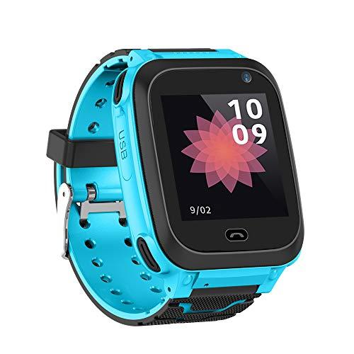 Relógio Inteligente Infantil Qalabka com Compartimento para Cartão SIM, 1,44 polegadas, IPX7, Tela de Toque Impermeável para Crianças Smartwatch com Função de Rastreamento GPS Compatível com Telefone Android e iOS