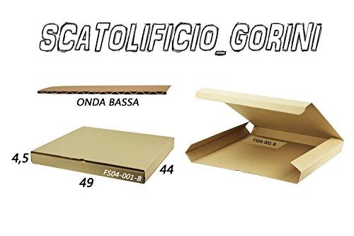 SCATOLA CARTONE 49x44x4 ,5 FUSTELLATA IMBALLO SPEDIZIONE BAULETTO PIATTE (10)
