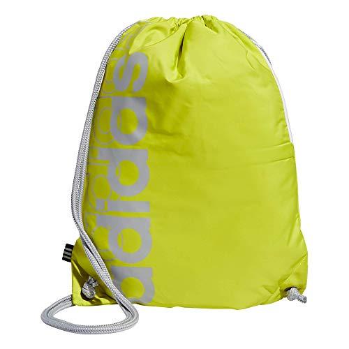 adidas Court Lite - Mochila, Unisex, Bolsa de saco, 978203, Amarillo ácido/Plateado halo, Talla única
