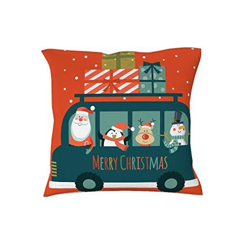 BOBONC kussensloop 45cmx45cm zachte stoelkussenslopen in polyester weefsel kerstman - Hema voor bank slaapkamer auto kerstboom