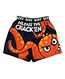 Lazy One Funny Animal Boxers, Novelty Boxer Shorts, Humorous Underwear, Gag Gifts for Men, Ocean, Sea, Monster, Mythical Creature (Release The Cracken, XX-Large)