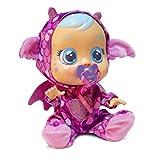 Bebés Llorones Fantasy Bruny - Muñeca interactiva que llora de verdad con chupete y pijama de Dragón...