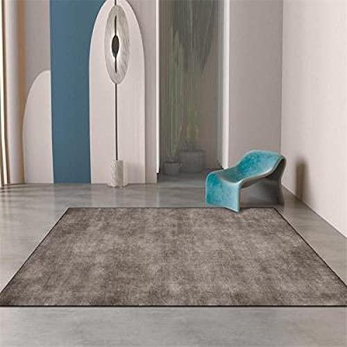 Stora mattor Runner Modern Designer Rug Mörkgrå fast färg Traditionellt hållbart fashionabelt enkelt underhåll 100x200CM (3ft28x6ft7)