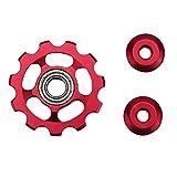 Aleación De Aluminio Jockey Wheel 11T Rueda De Tensión De La Bicicleta Cambio Trasero Polea Guía Polea Ciclismo Accesorios para Bicicletas - Rojo