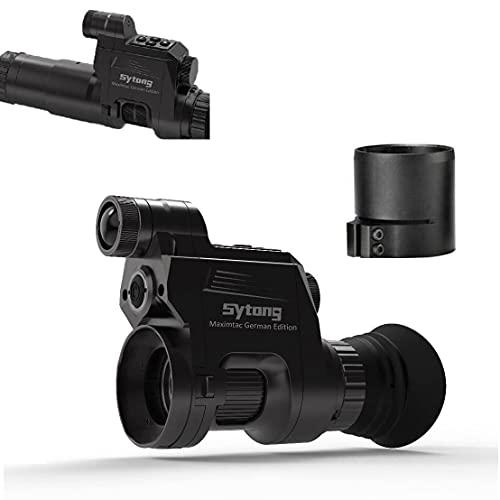 Maximtac SYTONG HT-66 Jagd Monokular Nachtsichtgerät - Full HD 1920x1080p Video & Foto Aufnahme - Night Vision Vorsatzgerät mit Adapter