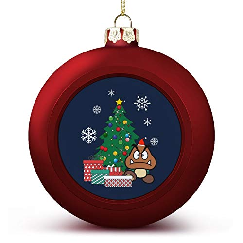 VNFDAS Goomba Around The Christmas Tree Custom Christmas ball ornaments Beautifully decorated Christmas ball gadgets Perfect hanging ball for holiday wedding party decoration